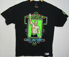 WWE JOHN CENA Neon T Shirt Size Large Cant See Me Wrestling Hustle OFFICIAL