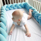 Baby Infant Crib Bumper Comfy Braid Plush Bed Nursery Bedding Cot Pad Protector
