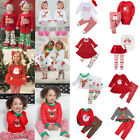Fashion Toddler Baby Girls Boys XMAS Romper Tops Dress Pants Outfits Clothes UK