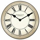 Classy Parchment Wall Clock  Vintage  Ultra Quiet Battery Operated