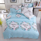 Single Queen King Bed Set Pillowcase Quilt Cover Cotton Blend OauR Mother's Day