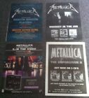METALLICA - ORIGINAL ADVERT SMALL POSTER unforgiven whiskey in the jar S