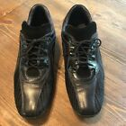Bacco Bucci Italy Black Leather Casual Lace Up Driving Oxford Shoes Mens Size 13