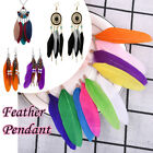2/20pcs Feather Charms Pendants Earrings Jewelry DIY Findings 3 Styles to Pick