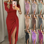 Women Sparkly Off Shoulder Bardot Evening Party Ladies Long Maxi Dress Ball Gown
