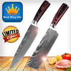 Authentic Damascus™ Kitchen Knife Set Japanese Steel Chef Santoku Chopping Knive