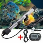 100/200/300W Aquarium Submersible Water Heater Rod Fish Tank w LCD Thermometer Y