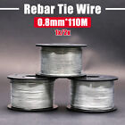110M 0.8mm TIE TWISTER WIRE REBAR MULTIPURPOSE WIRE GARDEN SACK TIES NEW
