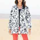 JD Williams Ladies Womens Summer Parka Jacket Rain Coat Floral Print Pac a Mac