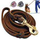 Real Leather Dog Lead Large Young Dogs German Shepherd K9 Police Training Lead