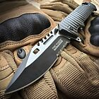 9quot TAC FORCE Spring Assisted Open SAWBACK BOWIE Tactical Rescue Pocket Knif