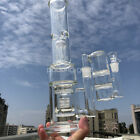 Honeycomb Glass Water Pipes Percolator Glass Bongs 2 Layers Filter Ash Catcher