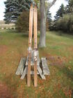 VINTAGE WOODEN SNOW SKIS NORTH STAR HICKORY 83 INCHES