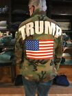 ONE OF A KIND!!GREAT VINTAGE TRUMP CAMO  JACKET ROCK THE RALLEY! SIZE MED/LARGE