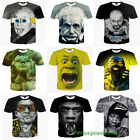 Fashion Womens/Mens 3D Print Funny Popular Face Casual T-Shirt Short Sleeve Tops