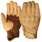 Weise Victory Tan Leather Motorcycle Gloves  M