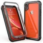 For iPhone XR XS XS Max X Case 2018 Full Rugged Armor Built in Screen Protector