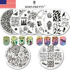 BORN PRETTY Zebra Feather Lace Nail Art Stamping Plates Stamp Template Manicure