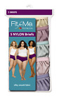 Fruit of the Loom Women's Fit for Me Plus Size 100% Nylon Briefs (Value Packs)