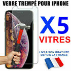 VERRE TREMPÉ VITRE PROTECTION FILM ÉCRAN iPhone XR X XS MAX 11 8 7 SE 12 Mini