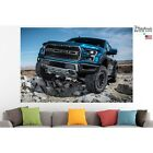Ford F-150 Raptor Poster Canvas Print Car Wall Art Pin Up Room Decor Home Decor
