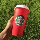 Starbucks Coffee Reusable 16oz Red Cup XMAS Christmas Holiday 2018 Brand New