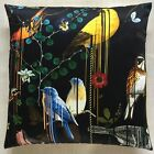 "Christian Lacroix Fabric Cushion Cover BIRDS SINFONIA CREPUSCULE  - 18"" or 20"""