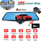 "360° Panoramic View 5"" Car Video DVR Dual Lens Driving Security Rear View Camera"