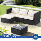 Patio Rattan Wicker Furniture Set Garden Sectional Couch Outdoor Sofa Table