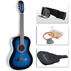 Beginners Acoustic Guitar w- Guitar Case  Strap  Tuner&Pick Steel Nylon Strings