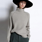 Внешний вид - Winter Cashmere Wool Sweater Women High-Collar Thickened Pullover Loose Sweater