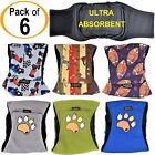 PACK of 6 Dog Diapers Male Belly Band Wrap LEAK PROOF Washable ULTRA ABSORBENT