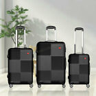 """3 Piece Luggage sets Lightweight Durable Spinner Suitcase Carry On 20"""" 24"""" 28"""""""