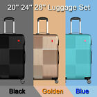 Kyпить 3 Piece Luggage sets Lightweight Durable Spinner Suitcase Carry On 20