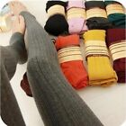 Women Autumn Casual leggins Warm Winter Stripe Woman Knitted Thick Slim Legging