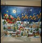 Byers Choice Wooden Advent Calendar Holz Adventkalender Santa's Sleigh Ride 2012