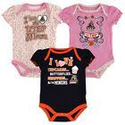 UTEP Miners NCAA Infant Navy/Pink/White Frill 3 Piece Creeper Set