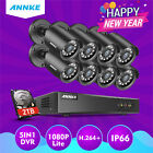 ANNKE 8+2 Channel 5IN1 1080P Lite H.264+ DVR 3000TVL CCTV Camera Security System