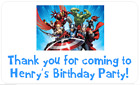 PERSONALISED STICKERS LABELS ADDRESS PARTY BAGS SWEET AVENGERS HULK ASSEMBLE