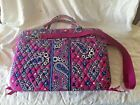 Vera Bradely Boysenberry Hard Shell Laptop Computer Carrying case Excellent cond