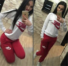 Womens 2PCS Set Tracksuits Ladies Active Sportswear Pullover Sport Running Suit