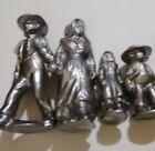 Collectible Aluminum Amish Dressed Family Toy Statue Fugures