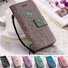Luxury Flip Wallet Case Butterfly Leather Women