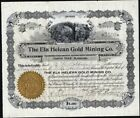 CRIPPLE CREEK, CO.:  ELA HELEAN GOLD MINING CO, 1897, UNCANCELLED STOCK CFT.