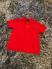 WORN ONCE - RALPH LAUREN RED POLO TSHIRT TOP - 12 MONTHS