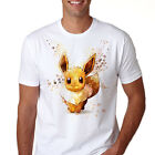 Eevee Pokemon Shirt Cotton Unisex Anime T-shirt Tee TOP Quality Gift Q133