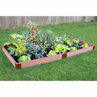 Frame It All 2-inch Series Composite Raised Garden Bed Kit - 4ft. x 8ft. x 5
