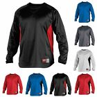 Rawlings UDFP2 Men's Dugout Fleece Baseball Shirt Pullover Crewneck Sweatshirt