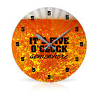 "Five O'Clock Somewhere 10.75"" Round Acrylic Wall Clock"