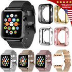 For 40/44MM Apple Watch Series 4 Stainless Steel Milanese iWatch Band Strap Case image